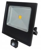 STRALER LED COMP+PIR 50W ZWART